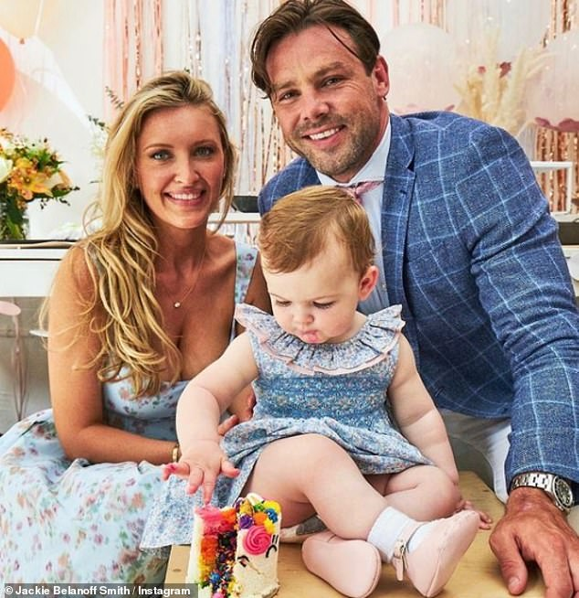 Daughter:Ben and Jackie - who wed in 2019 after just two weeks of dating - welcomed their daughter Farrah last year