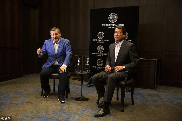 Cruz and Tennessee Senator Bill Hagerty spoke with the Associated Press for an interview during a trip to Israel on Monday, May 31 2021