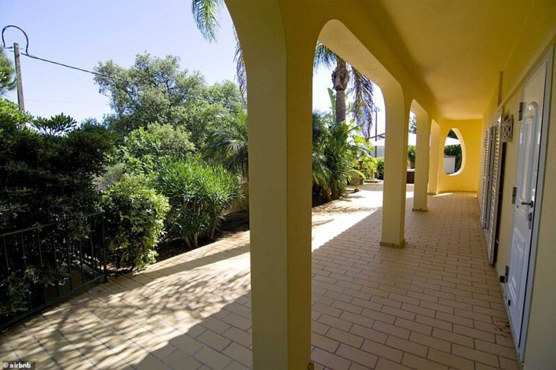 Private:The property is surrounded by palm trees and hedges and a fence, ensuring maximum privacy for the celebrity couple during their stay
