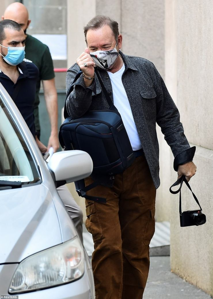 The actor landed in Italy where he is making a return to the big screen in a low budget film about a wrongly-accused paedophile