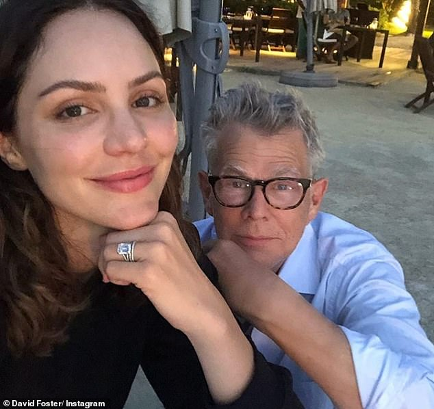 Hollywood pals:Music producer Foster, 71, who has been married five times, has become a close friend to Harry and Meghan and the foursome have been spotted dining out together
