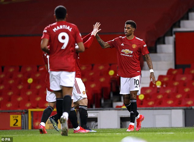 Marcus Rashford scored 11 times and produced nine assists for second-placed Man United