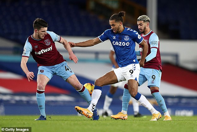 Declan Rice (L) and Dominic Calvert-Lewin (C) starred for West Ham and Everton respectively
