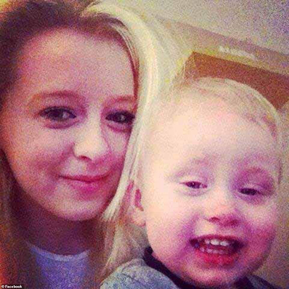 Bethany Vincent, 26, and her nine-year-old son Darren (pictured together) were found dead around 8.30pm last night after suffering from multiple stab wounds. A knife believed to have been used to inflict the injuries was recovered at the scene