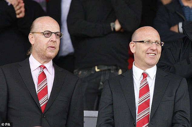 Joel (right) and Avram Glazer own Manchester United - the family took control in 2005