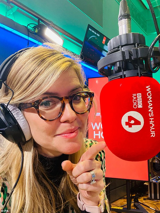 Hitting back:The Irish singer, 54, was promoting her memoir Rememberings when she engaged in the stilted conversation with host Emma Barnett, 36, (pictured in January) who spoke of her being 'a crazy lady', while Sinead also likened herself to a Jamaican men