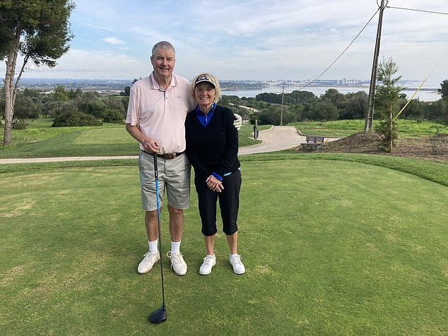 MPs, campaigners and travel chiefs all urged the Chancellor to immediately axe the levy, which adds 20 per cent to what is already described as a 'rip-off' fee. Pictured: Ross Lovelock and his wife who haveforked out £396 for tests that never happened