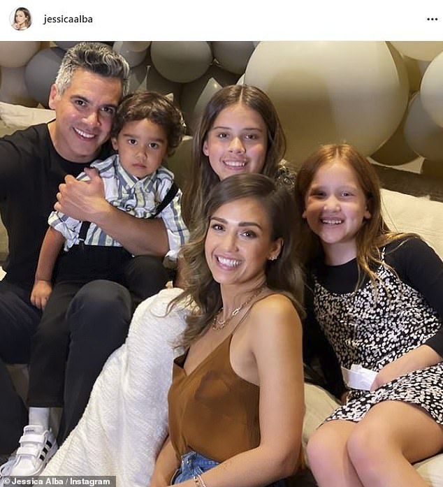 Mom life: The Fantastic Four actress has been married to Warren since 2008, and the pair share two daughters and a son
