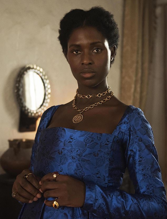Anne is the focus throughout and, if the script wasn't so lumbering, that would be a refreshingly welcome way to retell the story.It's about time history was seen through Anne's eyes. But half the dialogue is lumpen, and the rest is ludicrous. Pictured: Jodie Turner-Smith as Anne Boleyn