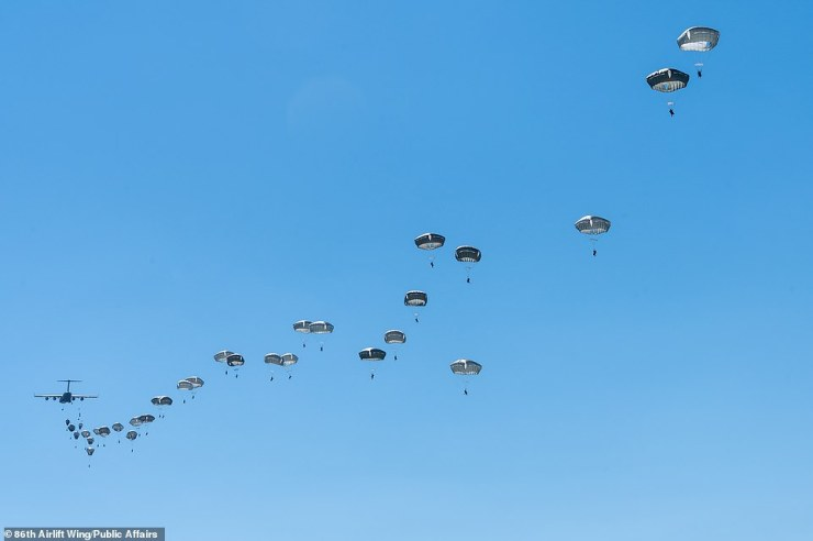 The exercise included airborne operations in Estonia, Bulgaria and Romania involving more than 7,000 troops from 11 countries