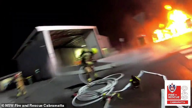 Five NSW Fire and Rescue crewsextinguished the flames just after 10pm on Tuesday