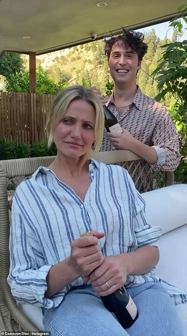 Pride Month celebration: Cameron Diaz andBenito Skinner celebrated the beginning of Pride Month by sharing a funny video of the duo popping corks off of Avaline bottles of wine
