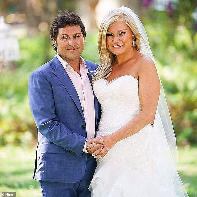 All an act? Nasser said in February he'd been 'playing the character' of a 'deluded reality star' for three years, ever since his debut on MAFS in 2018. Pictured here with 'wife'Gabrielle Bartlett