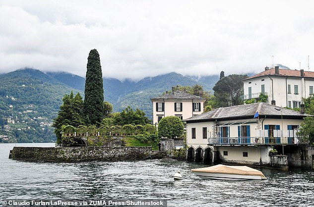 Idylic:The actor, 60, and his wife, 43, are said to have jetted off to their Italian villa earlier this month to celebrate their twins Ella and Alexander's fourth birthday (George's villa pictured)