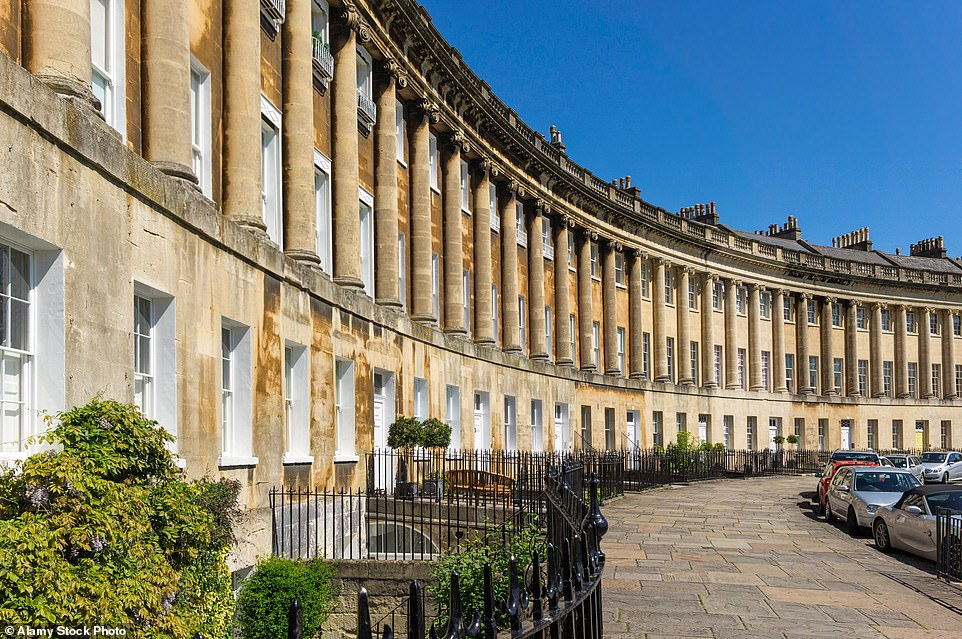 TheGrade I-listed terraced houses made for an impressive backdrop in Bridgerton