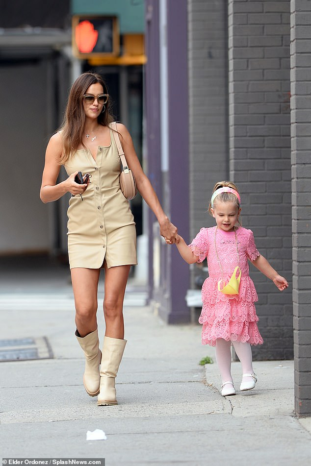 Just the girls! Irina Shayk looked every inch the model mother as she enjoyed a day with her daughter Lea De Seine Shayk Cooper in New York City on Tuesday