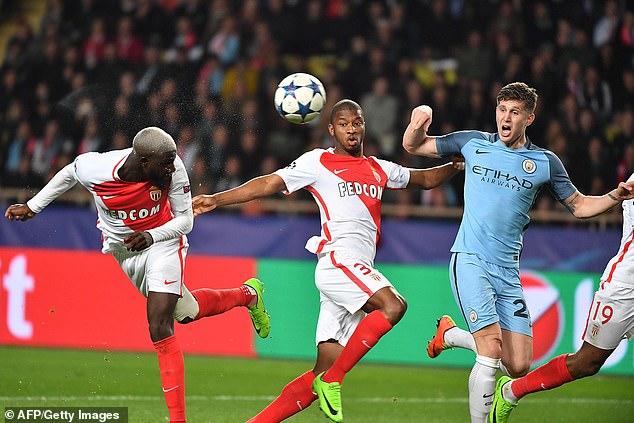 Tiemoue Bakayoko scored a header in Monaco's chaotic away goal win over Manchester City
