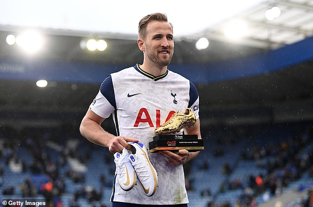 Kane ended the most recent season as top goal scorer for a third time with 23 strikes