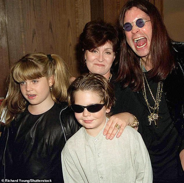 Hard to take: Kelly Osbourne said on Red Table Talk that she did heroin at age 13; seen in 1997 at age of 13 with her dad Ozzy, mother Sharon and brother Jack