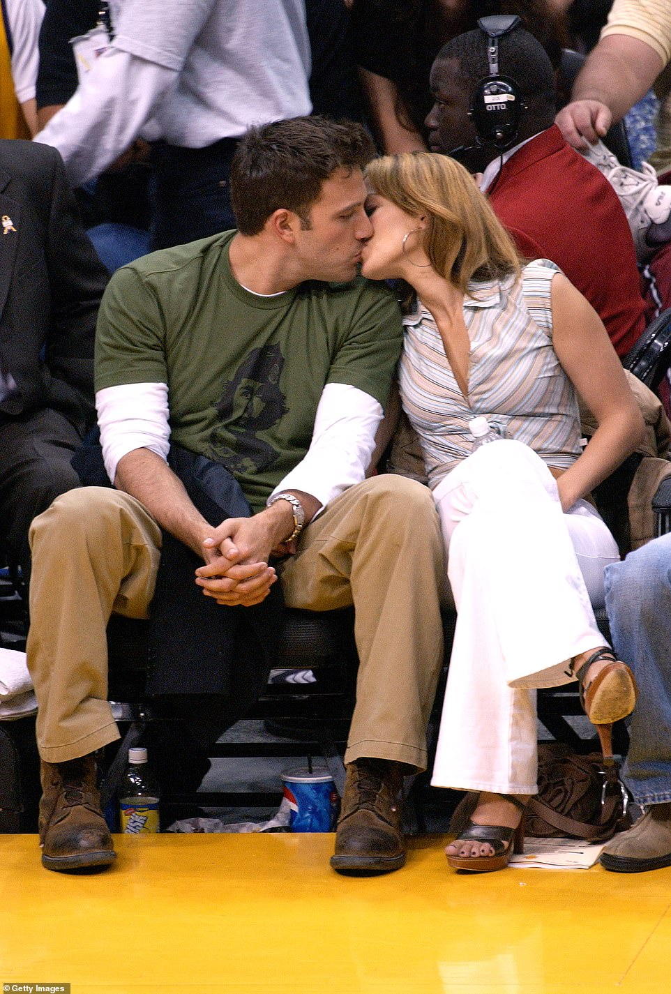 Complications? They got engaged later in 2002 and scheduled their wedding for September 2003 but called it off with only a few days notice; Ben and Jennifer pictured in 2003
