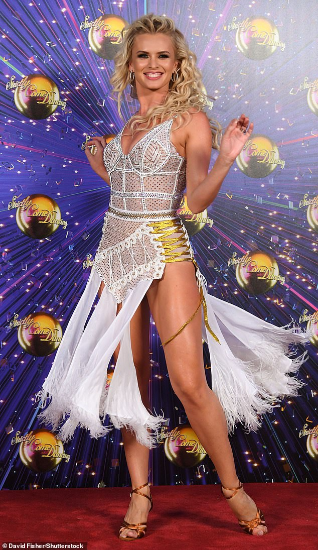 Pro: The dancer is a multiple-time Slovenian Ballroom and Latin Champion and previously has taken part in the Bosnian version of Strictly (pictured in 2019)
