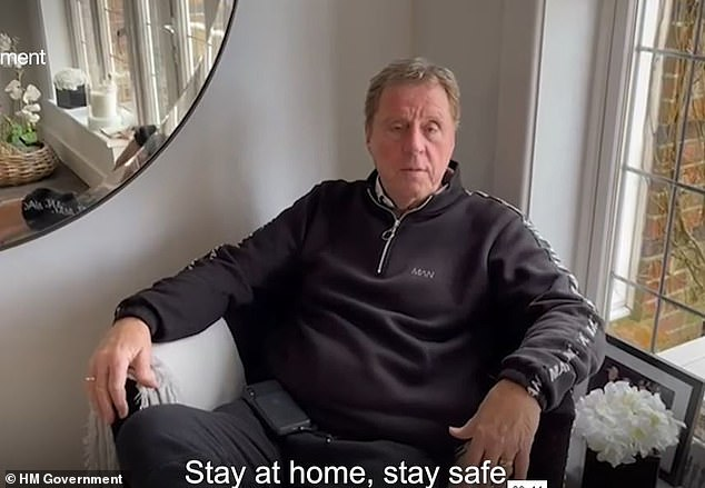 At home: The BBC Radio One DJ, 36, and the former football manager, 74, are said to be staying at home as a safety precaution after coming into contact with the crew member backstage