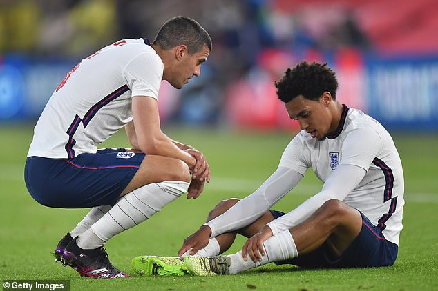 He went down with a muscular problem in England's win over Austria in June