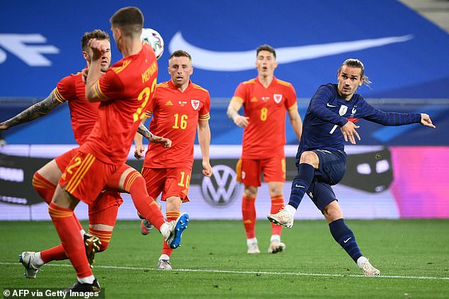 Forward Antoine Griezmann curled in a beautiful second goal early into the second half