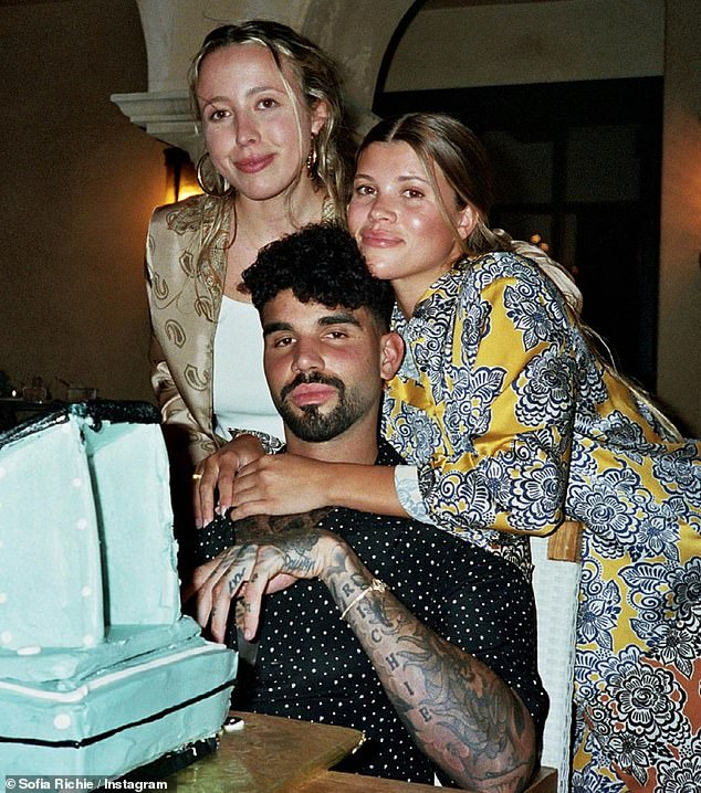 Special day: Richie's final image showed her embracing her now-27-year-old brother while being accompanied by her pal Tess Kemper