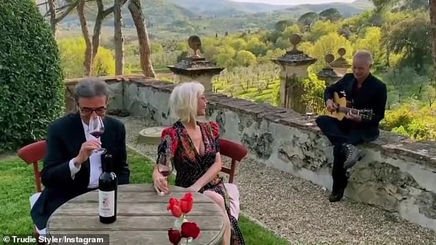 Vineyards: The breathtaking setting in their south of Florence home is now a fully functioning organic farm and vineyard