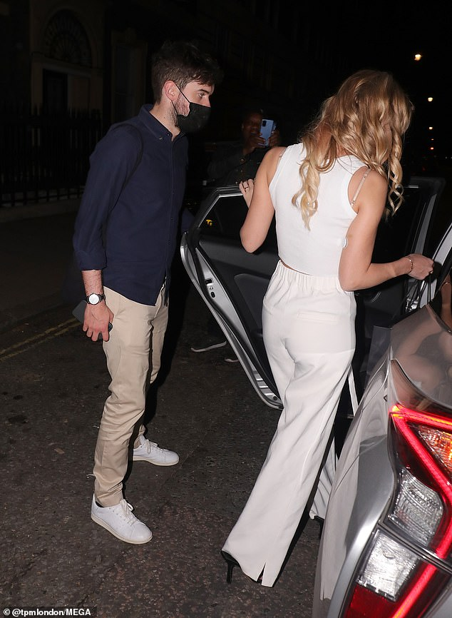 Gentleman: Jack showed off his chivalrous side as he held the door oped for his girlfriend to get in the car