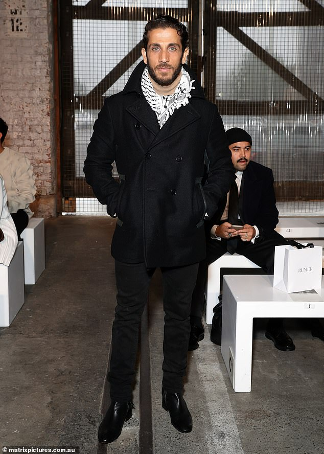 SAS Australia star Firass Dirani cuts a casual figure as he steps out at Fashion Week... after making some VERY controversial comments about how he thinks women should dress