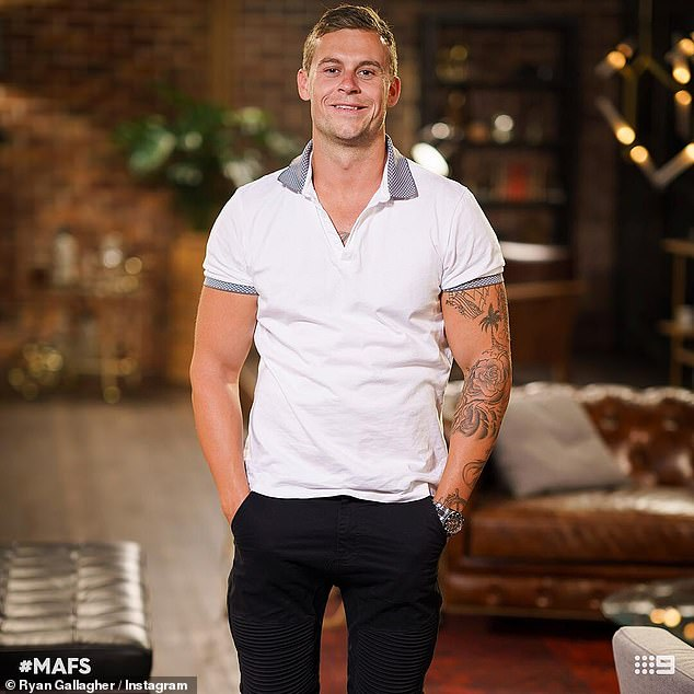 Looking for love:Ryan rose to fame on season five of Married At First Sight in 2018
