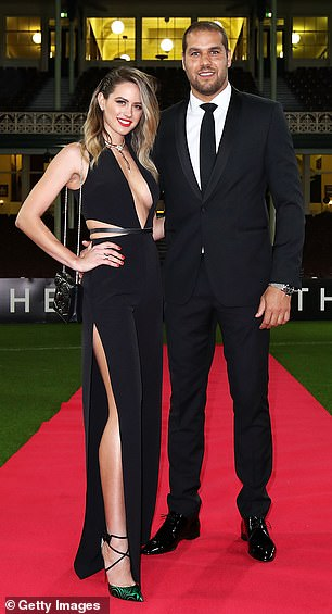 Married:Jesinta is married to Sydney Swans star Lance 'Buddy' Franklin (pictured)