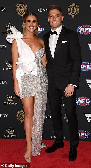 WAGs R Us: Scherri previously dated West Coast Eagles player Brad Sheppard (pictured)