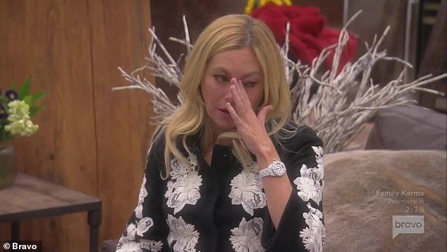 Crying again:When Crystal told her she was being ridiculous, Sutton took offense and started crying again