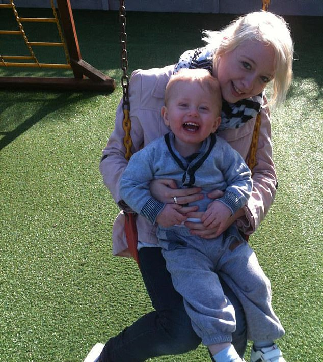 Miss Vincent and her son Darren, nine (pictured together) were found dead at her home in Louth