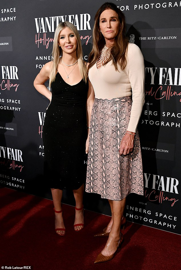Successful pair: The entrepreneur also told the media outlet that she felt 'blessed that we are able to work together'; the two are seen together in February of last year