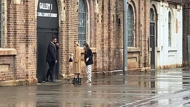 Stopped at the door: The 37-year-old shoe designer and wife of Today host Karl Stefanovic was denied entry by security after arriving late for the Indigenous Fashion Projects show