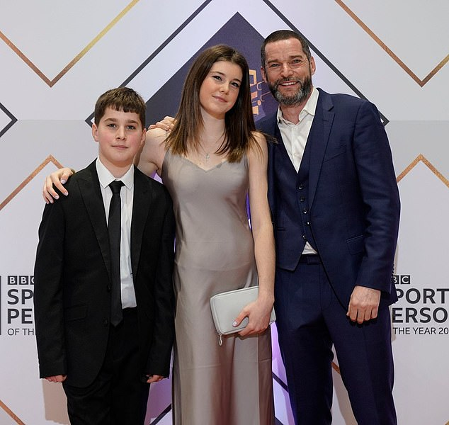 Family man: Fred shares two children [pictured] with ex-partner Alex and is engaged to his long-term partner, whom he keeps privately away from the spotlight