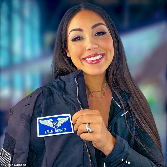For the flight Gerardi will 'carefully choreographing' every moment of her time in low gravity before the launch, giving her time to conduct experiments and 'bake in time to look out of the window at the Earth below'