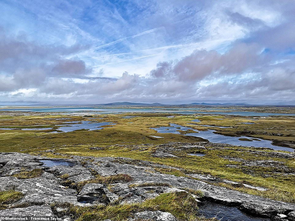 Benbecula, pictured,received a visitor score of 67 per cent but still earned four stars for its beaches, and peace and quiet