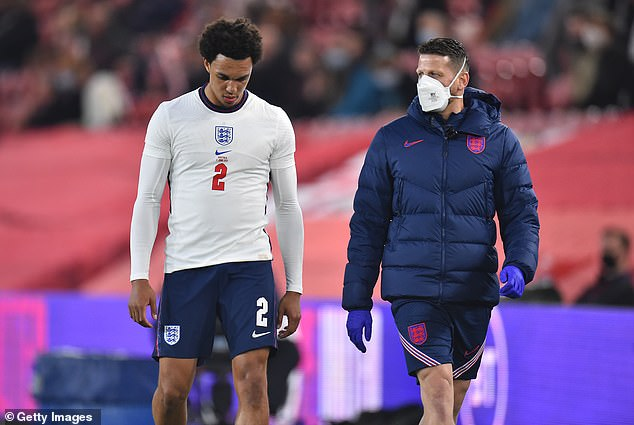 Alexander-Arnold's chances of playing at this summer's Euros for England are now in tatters