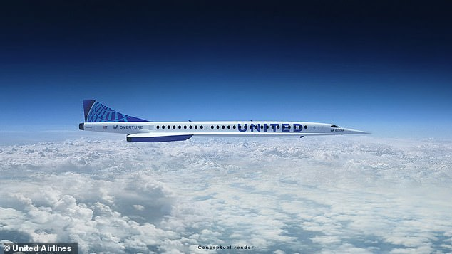 United said it would purchase 15 'Overture' aircraft from Denver-based aerospace company Boom Supersonic to add to its global fleet, with an option for an additional 35 aircraft
