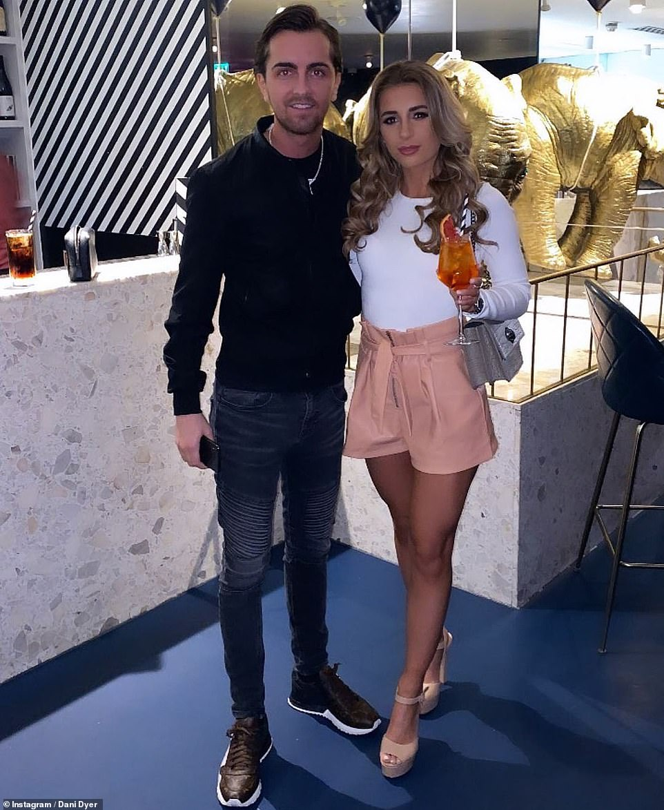 Together: Dani rekindled her romance with her former flame shortly after 2018 Love Island stint and following her split from Jack Fincham, it is also rumoured that the pair may be getting married in the near future