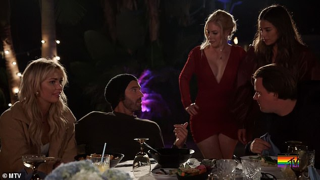 Spat: Brody Jenner and Heidi Montag got into a heated argument this week on Wednesday's episode of The Hills: New Beginnings after Jenner, 37, tried to curtail his girlfriend Amber's 'blackout' drinking