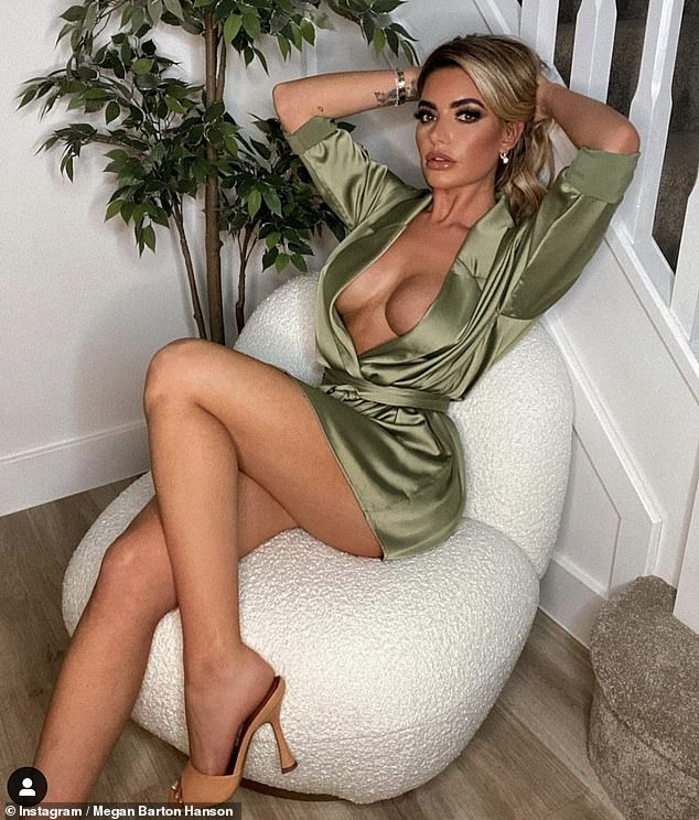 'I got nothing!':Megan Barton Hanson (pictured) recently revealed that she slid into Maura's DMs but was 'aired' and didn't get a reply from the Irish beauty
