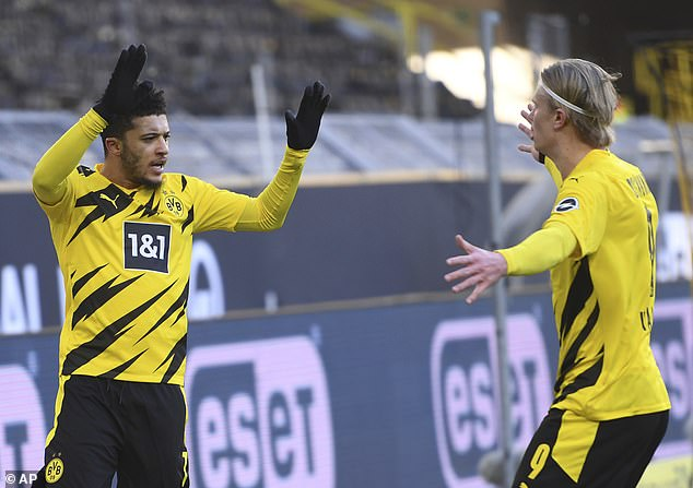 Van der Vaart believes he would have thrived playing with the likes of Jadon Sancho (L) and Erling Haaland (R) at Borussia Dortmund