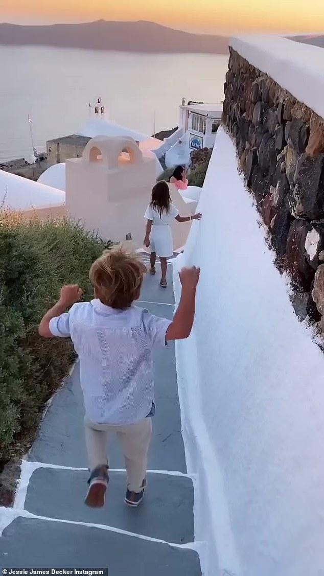 Adventure awaits! The children explored the idyllic beachfront community