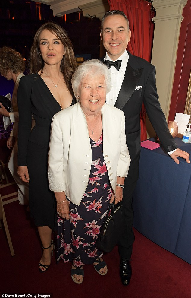 Sweet: David was joined by his mother Kathleen Williams at the event